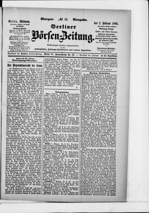 Berliner Börsen-Zeitung vom 02.02.1898