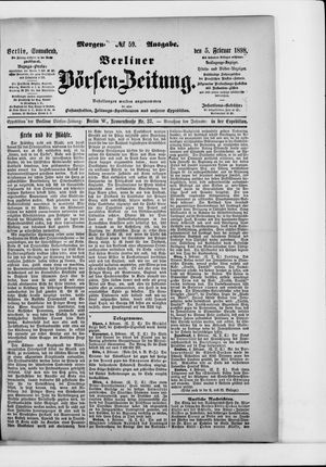Berliner Börsen-Zeitung vom 05.02.1898
