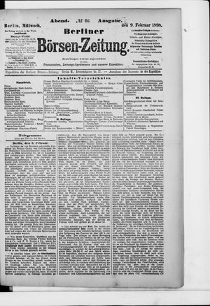 Berliner Börsen-Zeitung vom 09.02.1898