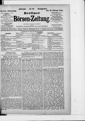 Berliner Börsen-Zeitung vom 10.02.1898