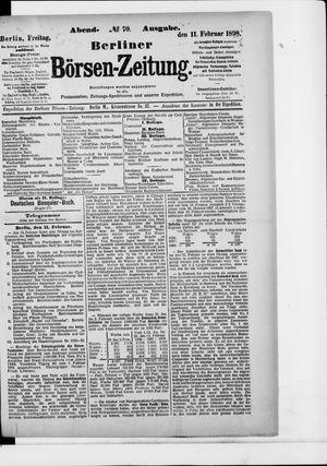 Berliner Börsen-Zeitung on Feb 11, 1898