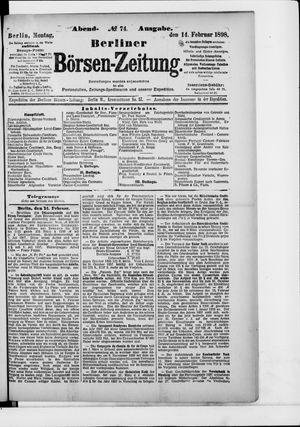 Berliner Börsen-Zeitung vom 14.02.1898