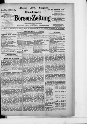 Berliner Börsen-Zeitung vom 16.02.1898