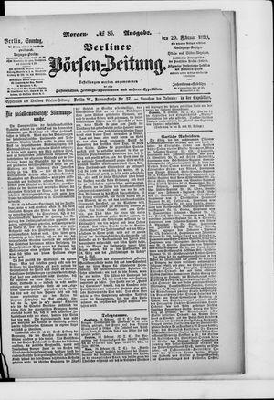 Berliner Börsen-Zeitung vom 20.02.1898