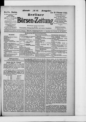 Berliner Börsen-Zeitung vom 21.02.1898
