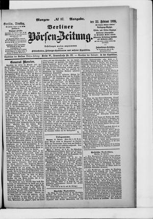 Berliner Börsen-Zeitung vom 22.02.1898