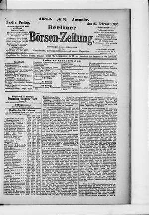 Berliner Börsen-Zeitung vom 25.02.1898