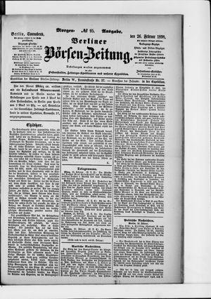 Berliner Börsen-Zeitung vom 26.02.1898