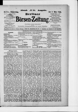 Berliner Börsen-Zeitung vom 03.03.1898