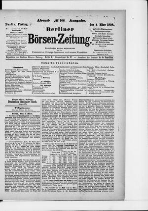 Berliner Börsen-Zeitung vom 04.03.1898
