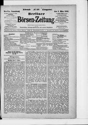 Berliner Börsen-Zeitung vom 05.03.1898