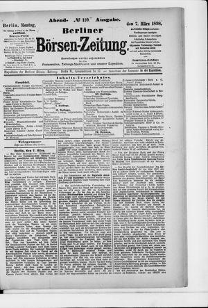Berliner Börsen-Zeitung vom 07.03.1898