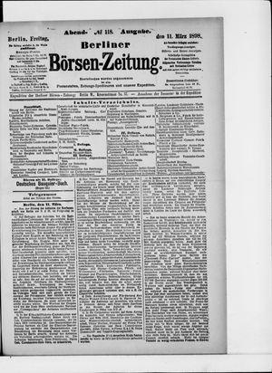 Berliner Börsen-Zeitung vom 11.03.1898