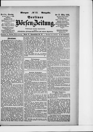 Berliner Börsen-Zeitung vom 13.03.1898