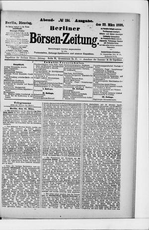 Berliner Börsen-Zeitung vom 22.03.1898