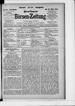 Berliner Börsen-Zeitung vom 26.03.1898