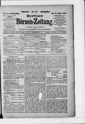Berliner Börsen-Zeitung vom 31.03.1898