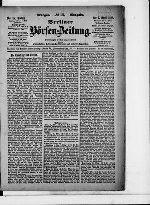 Berliner Börsen-Zeitung vom 01.04.1898