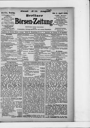 Berliner Börsen-Zeitung vom 04.04.1898