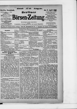 Berliner Börsen-Zeitung vom 09.04.1898