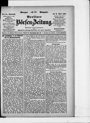 Berliner Börsen-Zeitung vom 16.04.1898