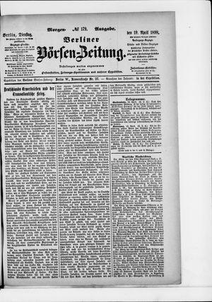 Berliner Börsen-Zeitung vom 19.04.1898