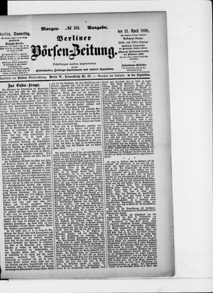 Berliner Börsen-Zeitung vom 21.04.1898