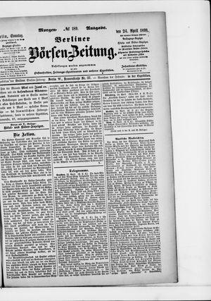 Berliner Börsen-Zeitung vom 24.04.1898