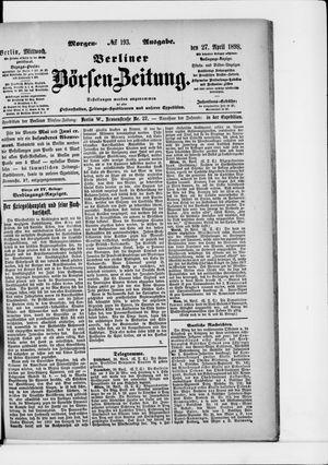Berliner Börsen-Zeitung vom 27.04.1898