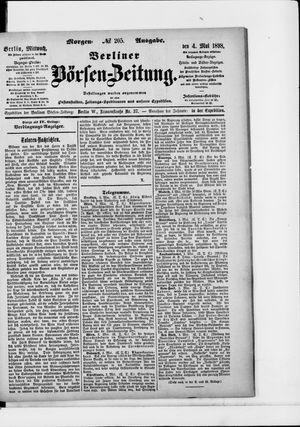 Berliner Börsen-Zeitung on May 4, 1898