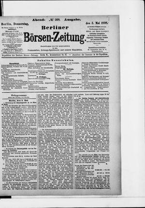 Berliner Börsen-Zeitung on May 5, 1898