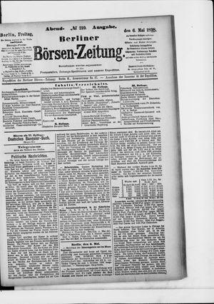 Berliner Börsen-Zeitung vom 06.05.1898