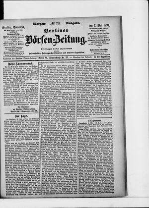 Berliner Börsen-Zeitung on May 7, 1898