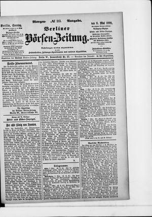 Berliner Börsen-Zeitung vom 08.05.1898