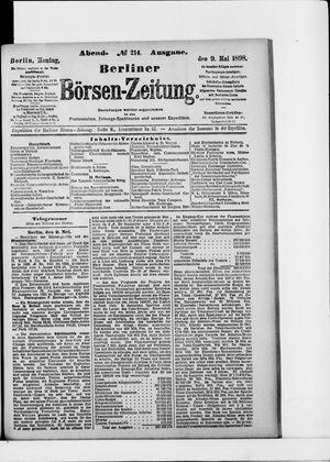 Berliner Börsen-Zeitung on May 9, 1898