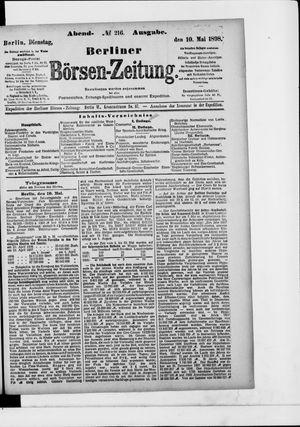Berliner Börsen-Zeitung vom 10.05.1898