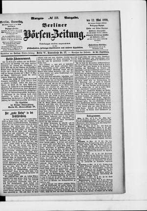 Berliner Börsen-Zeitung vom 12.05.1898