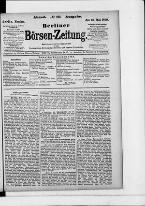 Berliner Börsen-Zeitung on May 16, 1898
