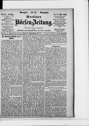Berliner Börsen-Zeitung vom 17.05.1898
