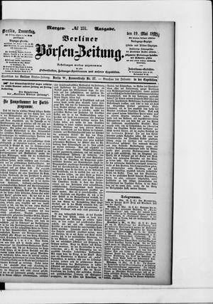 Berliner Börsen-Zeitung vom 19.05.1898