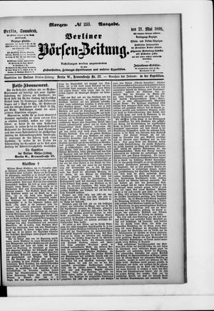 Berliner Börsen-Zeitung vom 21.05.1898