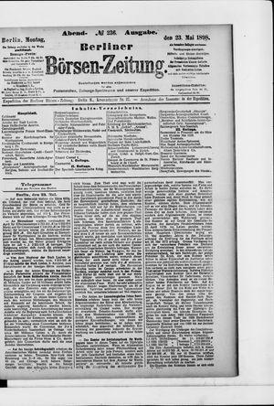 Berliner Börsen-Zeitung vom 23.05.1898