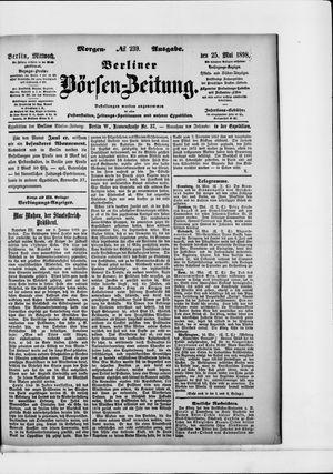 Berliner Börsen-Zeitung vom 25.05.1898