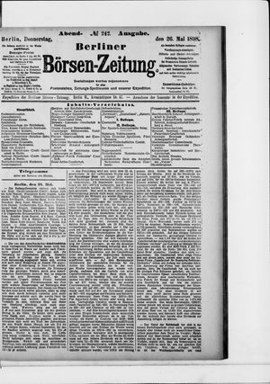 Berliner Börsen-Zeitung vom 26.05.1898