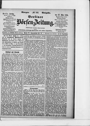 Berliner Börsen-Zeitung vom 27.05.1898