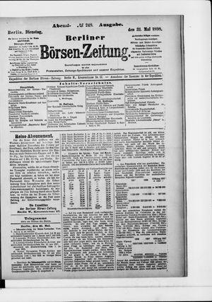 Berliner Börsen-Zeitung vom 31.05.1898