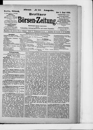 Berliner Börsen-Zeitung vom 01.06.1898