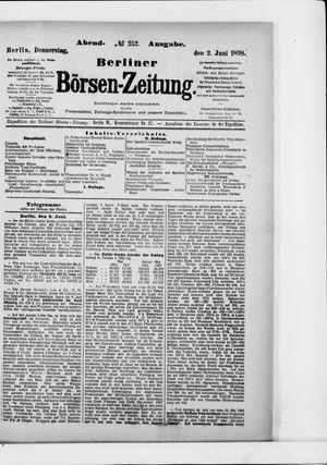 Berliner Börsen-Zeitung vom 02.06.1898