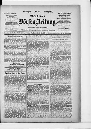 Berliner Börsen-Zeitung vom 05.06.1898