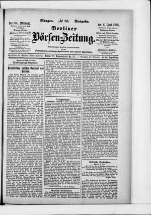 Berliner Börsen-Zeitung vom 08.06.1898